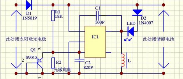 工作原理:   太阳能电池在使用时由于太阳光的变化较大,其内阻又比较高,因此输出电压不稳定,输出电流也小,这就需要用一个直流变换电路变换电压后供手机电池充电,直流变换电路见图1,它是单管直流变换电路,采用单端反激式变换器电路的形式。当开关管VT1导通时,高频变压器T1初级线圈NP的感应电压为1正2负,次级线圈Ns为5正6负,整流二极管VD1处于截止状态,这时高频变压器T1通过初级线圈Np储存能量;当开关管VT1截止时,次级线圈Ns为5负6正,高频变压器T1中存储的能量通过VD1整流和电容C3滤波后向