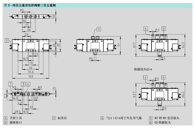 festo两位五通双电控阀,外部先导式,cpe10-m1ch-5js-m7,550226图片