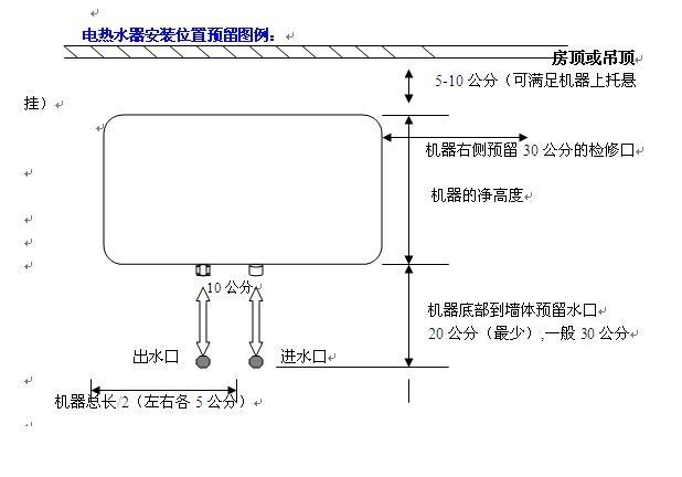 电热水器多少钱一台?电热水器的安装方法图及安装要求