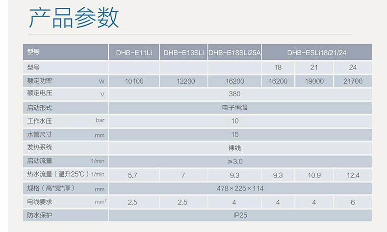 斯宝亚创 电子恒温无级温度即热式三相电热水器(30-60